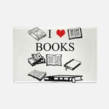 I (heart) Books Rectangle Magnet (100 pack)