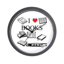 I (heart) Books Wall Clock