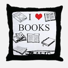 I (heart) Books Throw Pillow