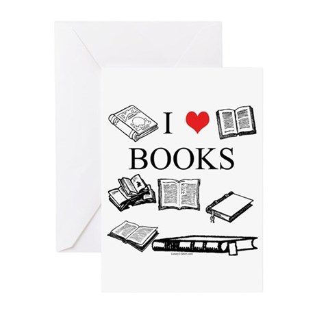 I (heart) Books Greeting Cards (Pk of 10)