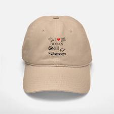I (heart) Books Baseball Baseball Cap
