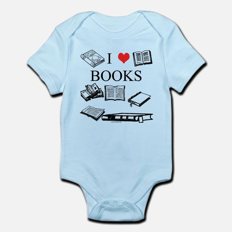 I (heart) Books Infant Bodysuit