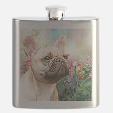 French Bulldog Painting Flask