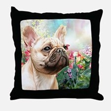 French Bulldog Painting Throw Pillow