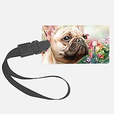 French Bulldog Painting Luggage Tag