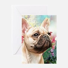 French Bulldog Painting Greeting Cards
