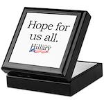Hope for us all: Hillary 2008 Keepsake Box