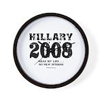 Hillary 2008: No new interns Wall Clock