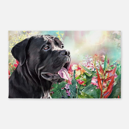 Cane Corso Painting Area Rug