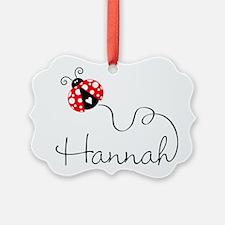 Ladybug Hannah Ornament