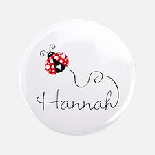 """Ladybug Hannah 3.5"""" Button"""