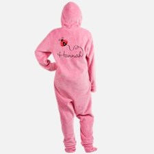 Ladybug Hannah Footed Pajamas