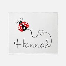 Ladybug Hannah Throw Blanket
