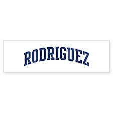 RODRIGUEZ design (blue) Bumper Bumper Sticker