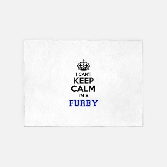 I can't keep calm Im FURBY 5'x7'Area Rug
