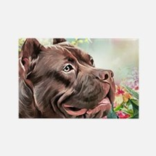 American Staffordshire Terrier Painting Magnets