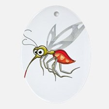 Mosquito After a Score Oval Ornament