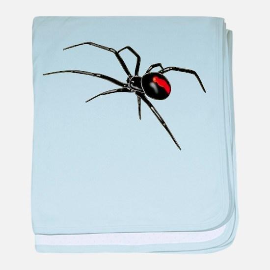 BLACK WIDOW SPIDER baby blanket