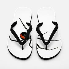 BLACK WIDOW SPIDER Flip Flops