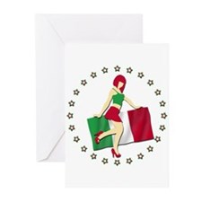 Sexy Girl Italy 2 Greeting Cards (Pk of 20)