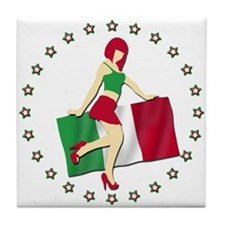 Sexy Girl Italy 2 Tile Coaster