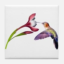 Hummingbird in flight Tile Coaster