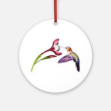 Hummingbird in flight Ornament (Round)