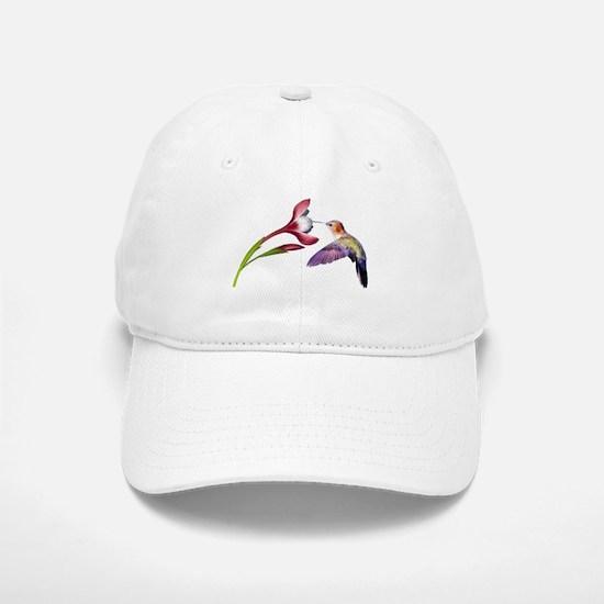 Hummingbird in flight Baseball Baseball Cap