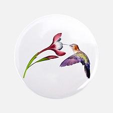 "Hummingbird in flight 3.5"" Button (100 pack)"
