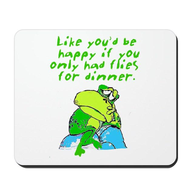 Unhappy Frog Mousepad By Allanimaltees
