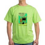 Green T-Shirt - Featuring Dharma The Cat