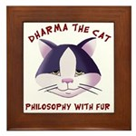 Framed Tile - Featuring Dharma The Cat