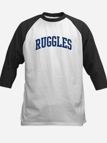 RUGGLES design (blue) Kids Baseball Jersey