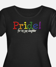 3-Family Gay Daughter-b Plus Size T-Shirt