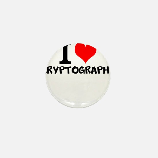 I Love Cryptography Mini Button