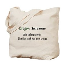Oregon State Motto Tote Bag