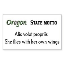 Oregon State Motto Rectangle Decal
