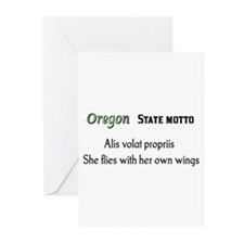 Oregon State Motto Greeting Cards (Pk of 10)