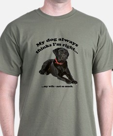 Black Lab vs Wife T-Shirt