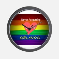 Orlando never forgetting 6-12-16 Wall Clock