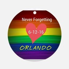 Orlando never forgetting 6-12-16 Round Ornament