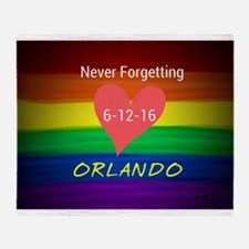 Orlando never forgetting 6-12-16 Throw Blanket