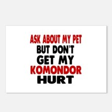 Don't Get My Komondor Dog Postcards (Package of 8)