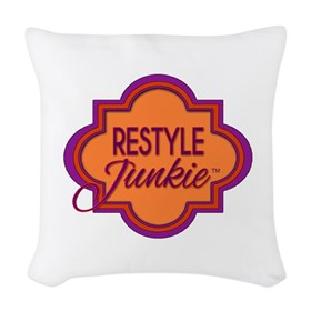 Restyle Junkie Logo Woven Throw Pillow