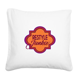 Restyle Junkie Logo Square Canvas Pillow