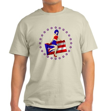 Sexy Girl Puerto Rico 2 Light T-Shirt