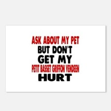 Don't Get My Petit Basset Postcards (Package of 8)