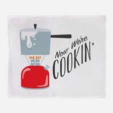 Were Cooking Throw Blanket