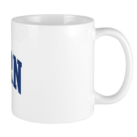 Rayburn design blue mug by surnamealot for Blue mug designs