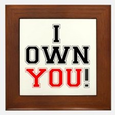 I OWN YOU! Framed Tile